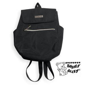 Babies' Alley Black Nylon Backpack with Side Pockets